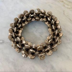 Unique Vintage Metal Beaded Bracelet